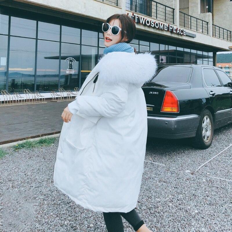 Thicken Warm Fur Collar Winter Jacket Women Casual Medium Long Hooded Coat Female Office Lady 2020 New Women Women's Clothings Women's Sweaters/Coat cb5feb1b7314637725a2e7: black|gray|White