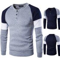 Zogaa 2019 новый весенний осенний мужской хлопковый свитер с длинным рукавом, мужской повседневный однотонный приталенный свитер в китайском с...