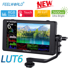 Feelworld LUT6 6 Inch Ips 2600Nits 3D Lut Hdr Touch Screen Camera Veld Monitor Met Waveform Vector Scope Voor dslr Camera 'S