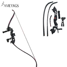 60inch Recurve Bow Draw Weight 35lbs 40lbs 45lbs Bow Archery Composite 5pins Sight Arrow Rest Hunting Stabilizer Finger Guard archery 66 68 70inch recurve bow draw weight 16 40lbs takedown bow hunting with a set recurve bow sight and arrow rest