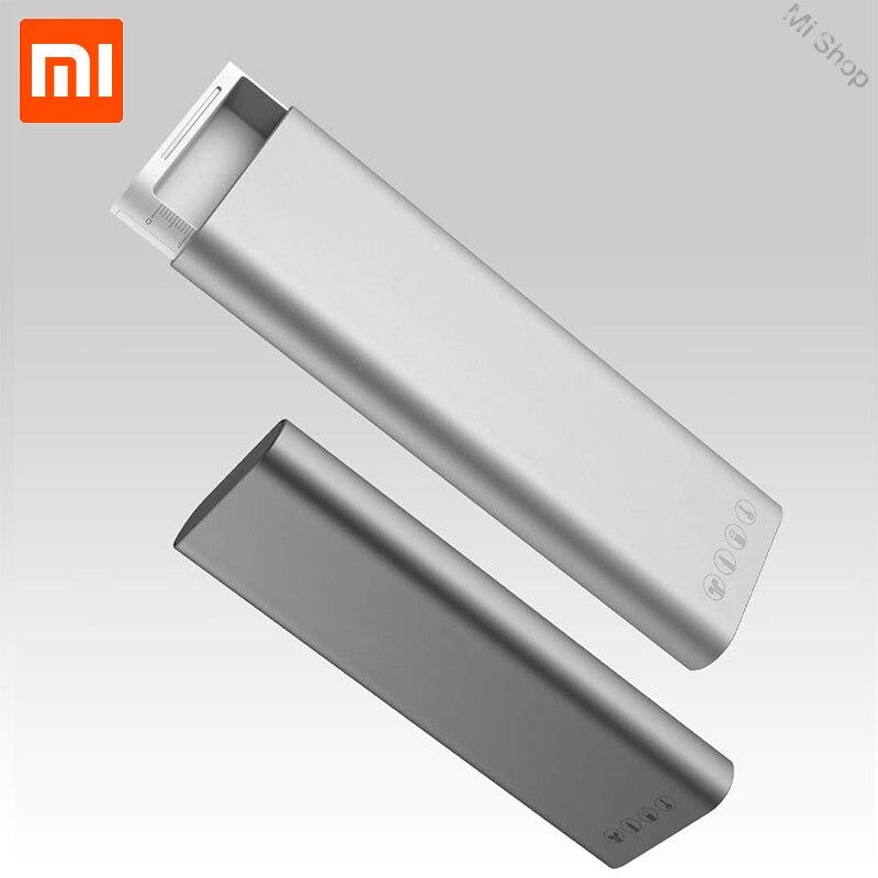 Novo Xiaomi Mijia Miiiw Casos caixa de Lápis Estudante Caixa de Lápis de Escritório Material Escolar Caneta liga de Alumínio Caixa de ABS + PC Para lápis maçã
