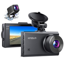 Kingslim D2 Car DVR Camera 2.5K Dual Dash Cam 1440P&1080P Front and Rear Camera for Cars 170 Degree Driving Recorder Dashcam New