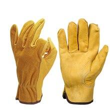 Новые Мотоциклетные Перчатки из воловьей кожи, перчатки для мотогонок, ветрозащитные, анти-холодные, анти-походные, охотничьи перчатки для мужчин