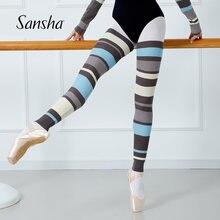 Sansha mulheres de malha ballet dança perna aquecedores fitness feminino wear exercício térmico lagguard com furo 89bo1002a