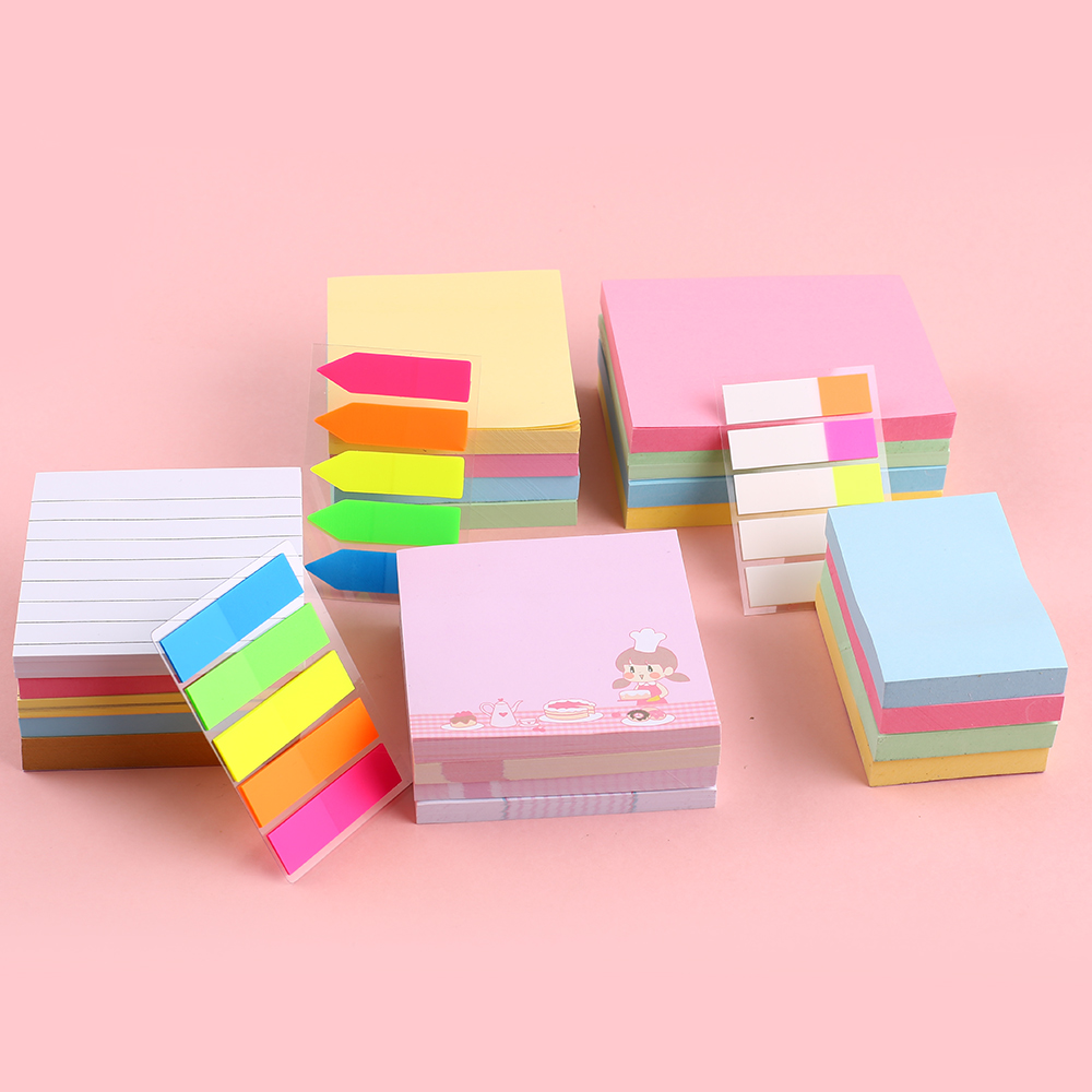 Cute Kawaii Memo Pad Computer Block Sticker Sticky Note School Office Kid Accessory Kawai Stationary Kit Planner Memopad Notepad