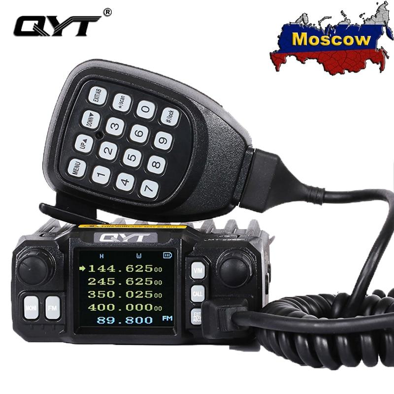 """QYT KT-7900D мини мобильное радио 25 Вт Quad Band 144/220/350/440 МГц KT7900D CB трансивер Радио comunicador иди и болтай Walkie Talkie """"иди и 10 км"""