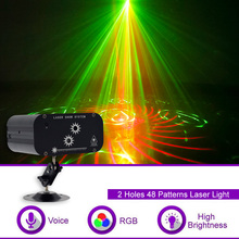 YSH RG Laser Projector Disco Light ball party 48 Patterns Star Shower DJ Party Lights  Stage Decoration for Home effect singers