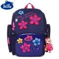 Брендовая школьная сумка с цветочным рисунком для мальчиков и девочек  детский ортопедический рюкзак  рюкзак с фиолетовыми цветами  Mochila ...