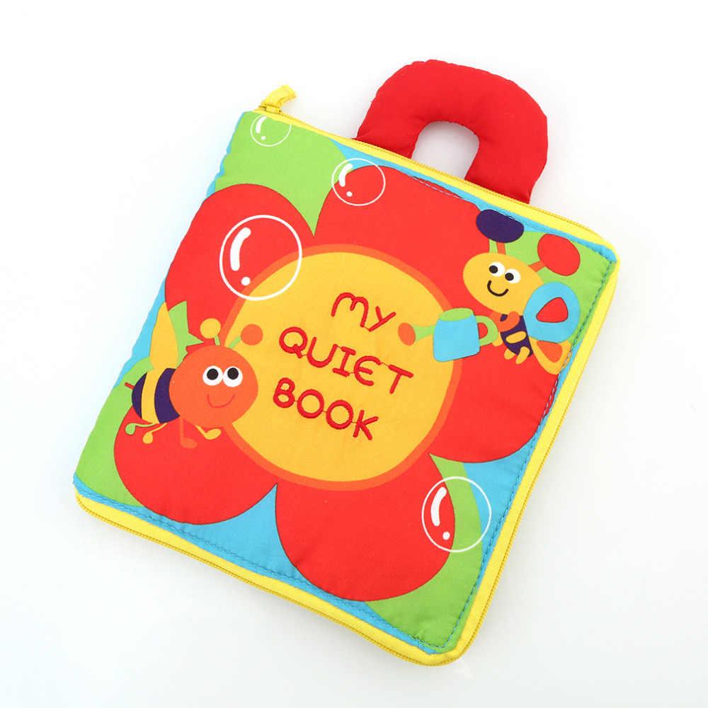 0-12 meses paño suave para bebé niños niñas libros sonido de crujido cochecito educativo juguetes sonajero para bebé recién nacido 12 páginas