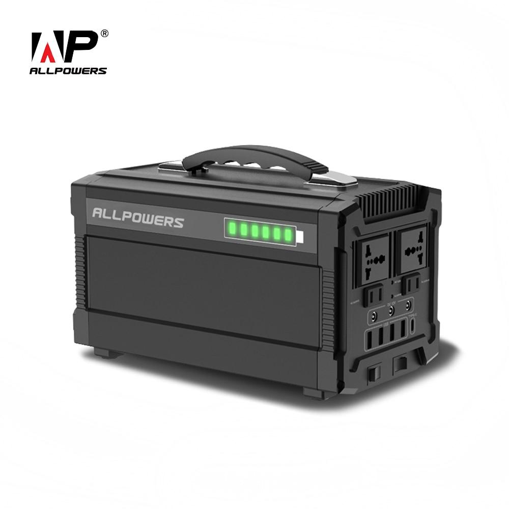 ALLPOWERS banco de energía de 220 V, generador portátil de 78000 mAh, batería de alimentación UPS de salida múltiple de CA/CC/USB/tipo C.