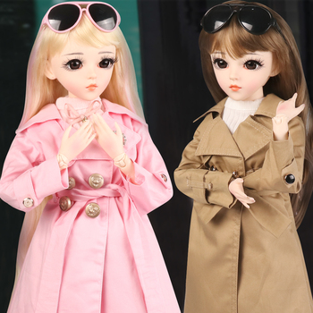 60CM BJD Doll Fashion Girl SD Dolls 18 Ball Jointed Doll With Full Outfits Hat Wig Clothes Shoes Makeup Best Gifts For Girls цена 2017
