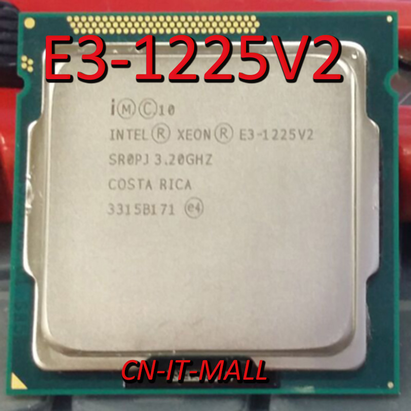 Pulled E3-1225V2 Server Cpu 3.2G 8M 4Core 4 Thread LGA1155 Processor