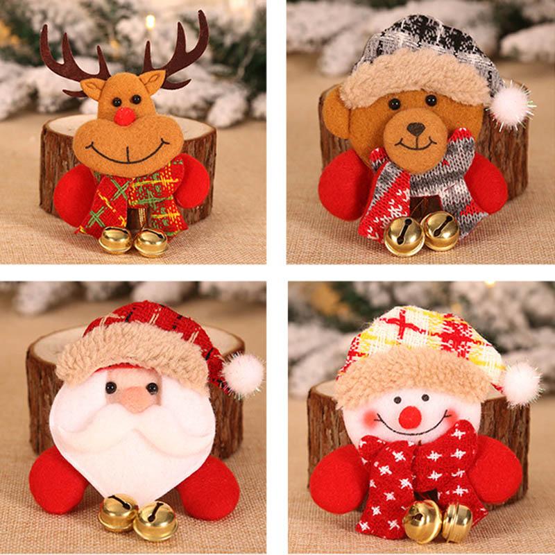 Christmas Decorative Items Hanging Bell Brooch Luminous Badge Bears The Elderly Snowman Children Present