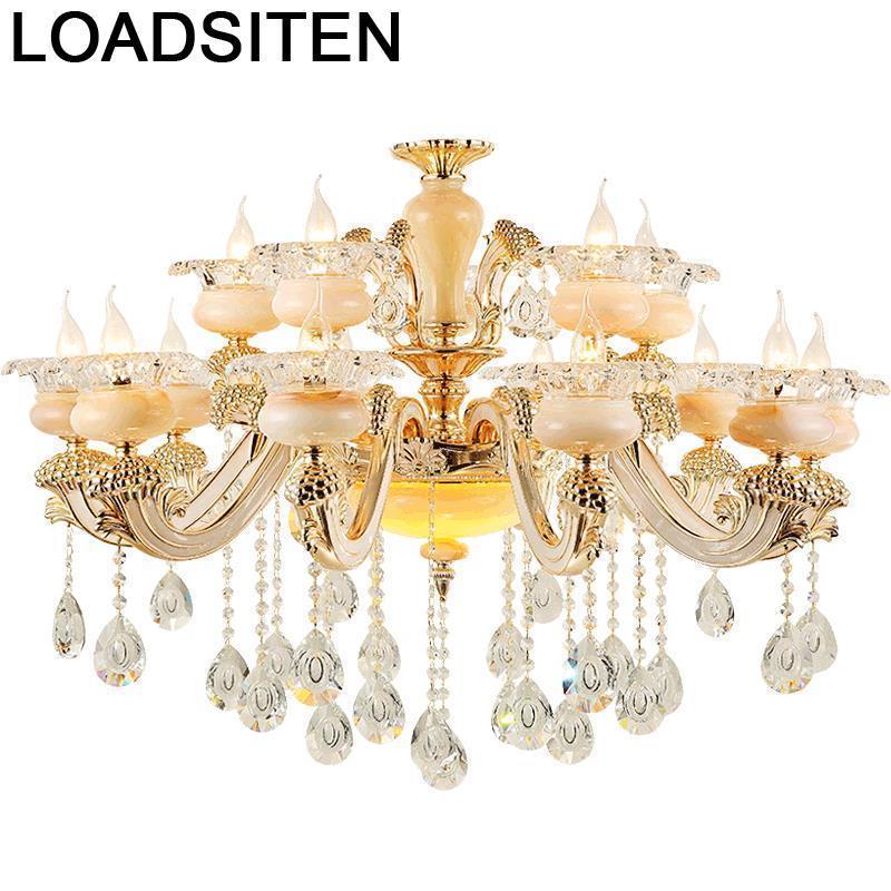 De Techo Kitchen Chambre Fille Lustre Industriele Crystal Gantung Deco Maison Lampara Colgante Luminaria Hanging Lamp