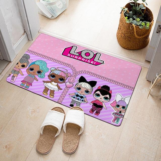 Lol Surprise Dolls Flannel Carpet Cartoon Anime Printing Pattern Living Room Bedroom Floor Decoration Bathroom Mat Door Mat 2b24 Aliexpress