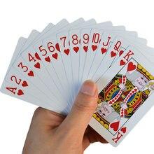 Baralho de plástico para adultos, cartas de jogo de poker à prova d'água 58*88mm, pvc, novo, 100%
