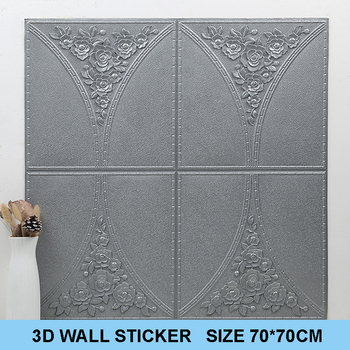 3D wall sticker self-adhesive foam wallpaper waterproof background wall sticker rough wall rental house ceiling sticker image