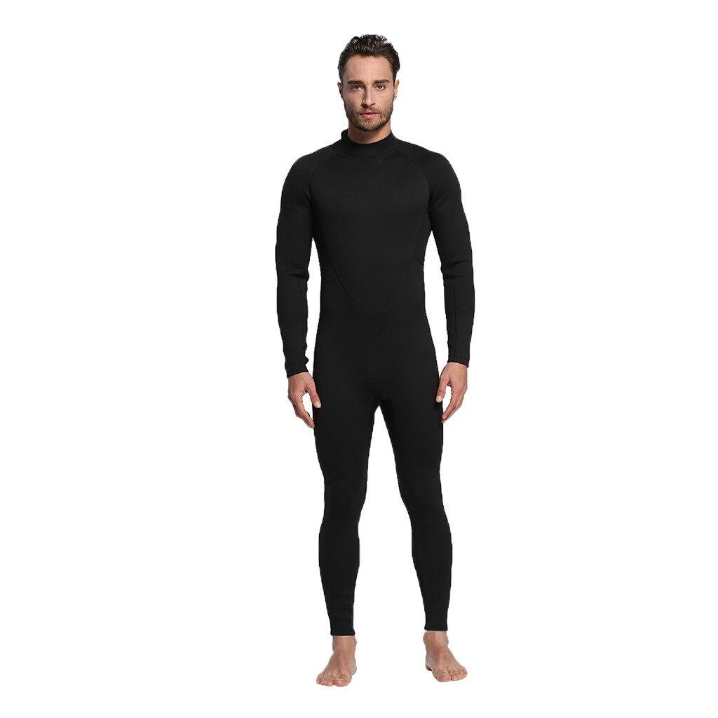 Mode plongée Surf costume crème solaire haute qualité élastique à manches longues zippé sous-marine maillot de bain une pièce combinaison maillots de bain 0F #