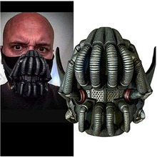Bane Mask Latex Half Face Mask Bat Movie Character The Dark Knight Rises Destroyer for Halloween Cosplay Props Costumes Men