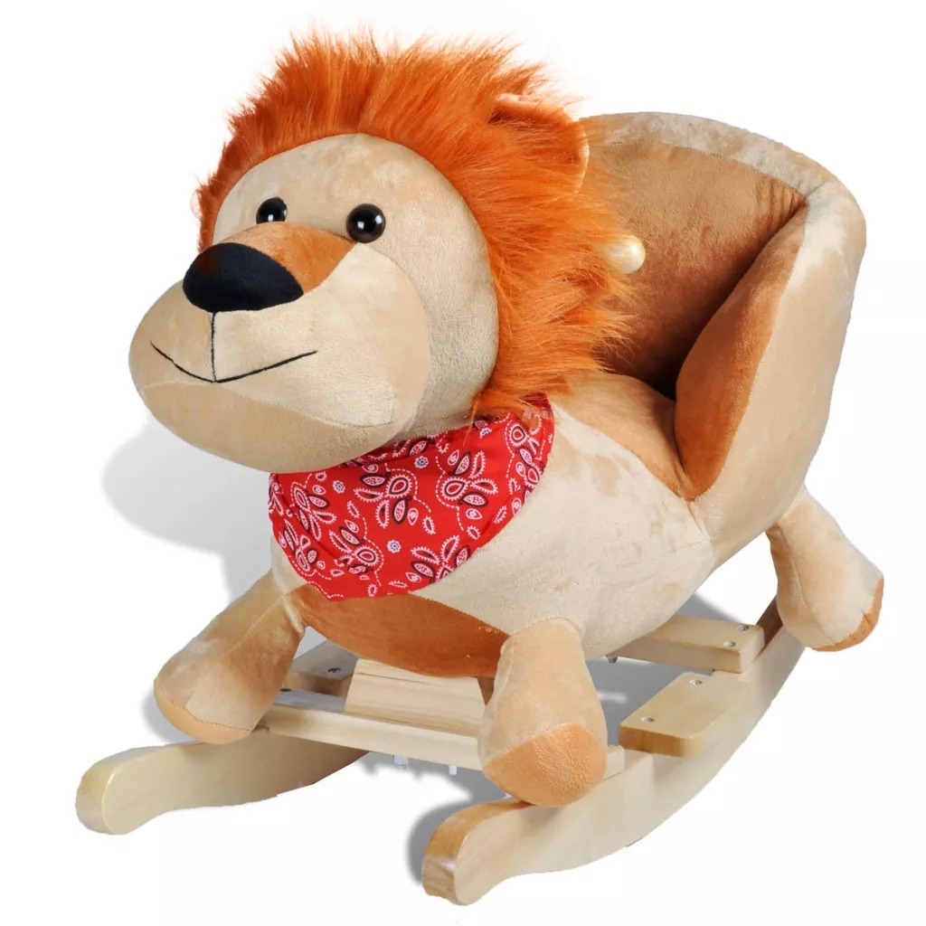 Baby Rocking Lion Kids Animal Rocking Horses Multi-Functional Rocking Chairs Trojan Toys Baby Play Baby Walker Indoor Gift V3