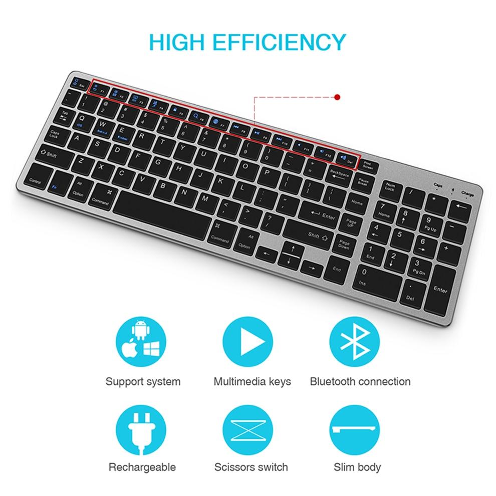 Seenda teclado sem fio bluetooth para tablet