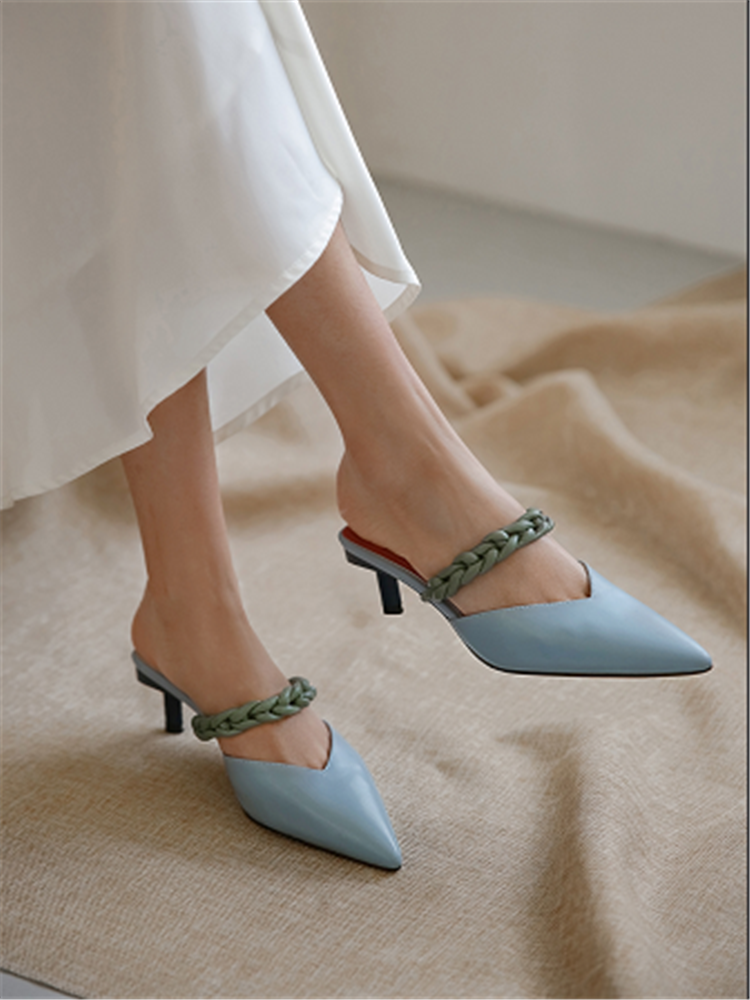 FEDONAS Sandals Elegant Women Pumps Pointed-Toe High-Heels Genuine-Leather Summer Woman