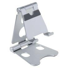 Soporte giratorio para tableta de escritorio plegable doble de aleación de aluminio soporte para teléfono móvil soporte de montaje para iPhone para iPad para teléfonos móviles