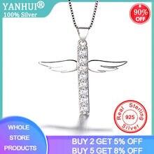 Yanhui новые модные ангельские крылья крест подвески ожерелья