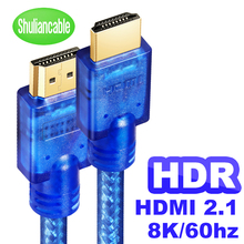 Shuliancable hdmi 2.1 8k @ 60hz 4k @ 120hz/60hz arco hdr rgb 4:4:4 48gbps hdcp2.2 para divisor interruptor ps4 tv xbox projetor computador