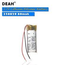 3.7V komórki Lipo 350829 60mah akumulator litowo-polimerowy do tabletu zabawki elektryczne PAD DVD zestaw słuchawkowy Bluetooth MP3 MP4 MP5