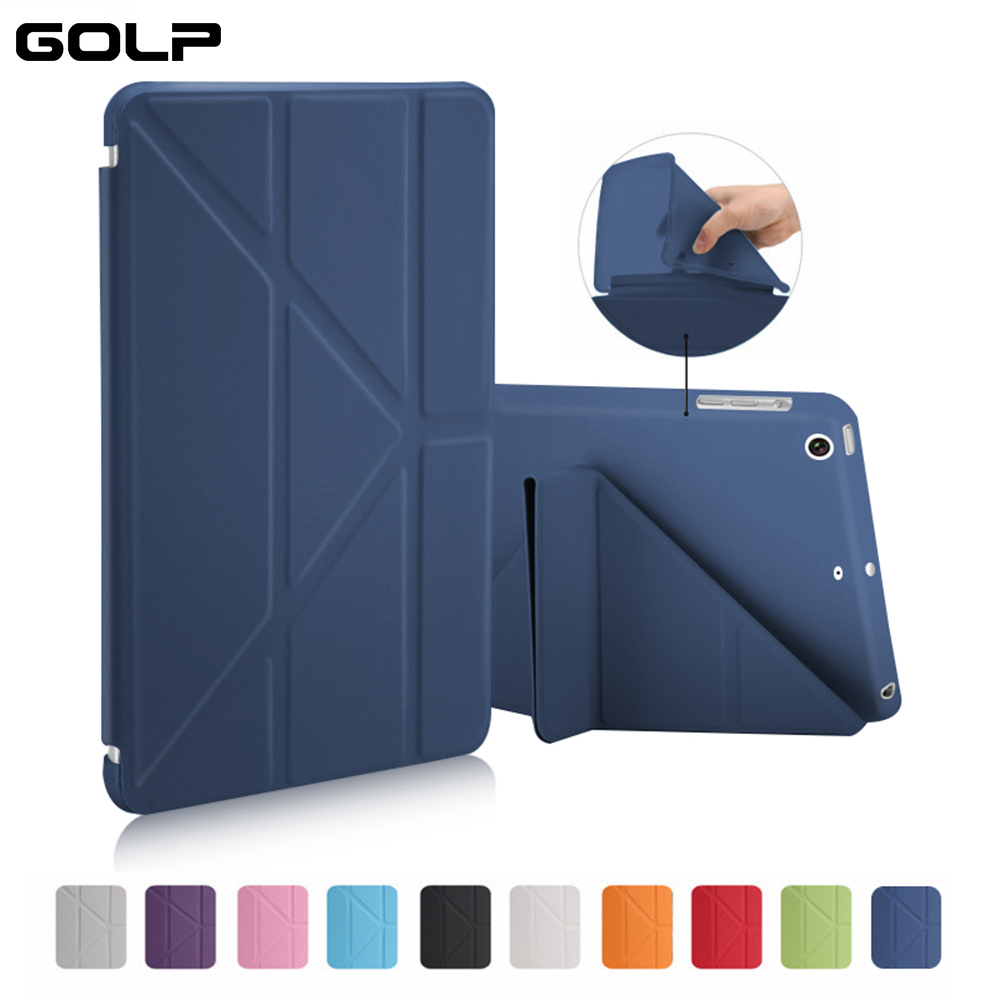 Case For IPad Mini 2 / Mini 3 / Mini 1 Case PU Leather Ultra Slim+ Soft TPU Back Smart Cover For Ipad Mini Case