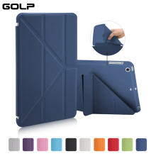 GOLP Case for iPad Mini 1 2 3 Slim PU Leather Folding Folio Shell Soft TPU Back Protective Smart Cover