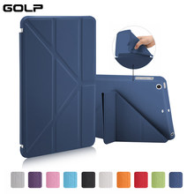 Caso para o for iPad Mini 2/Mini 3/Mini 1 Caso PU de Couro Ultra Slim + Soft TPU Tampa Traseira Inteligente para for ipad Mini caso(China)