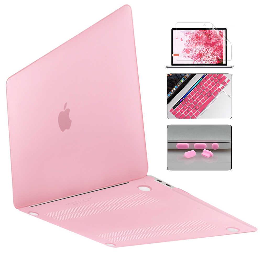 Redlai pour MacBook Air 13 pouces étui 2019 Pro 16 13 pouces barre tactile A2141 A2159 cristal mat coque dure manchon + housse de clavier
