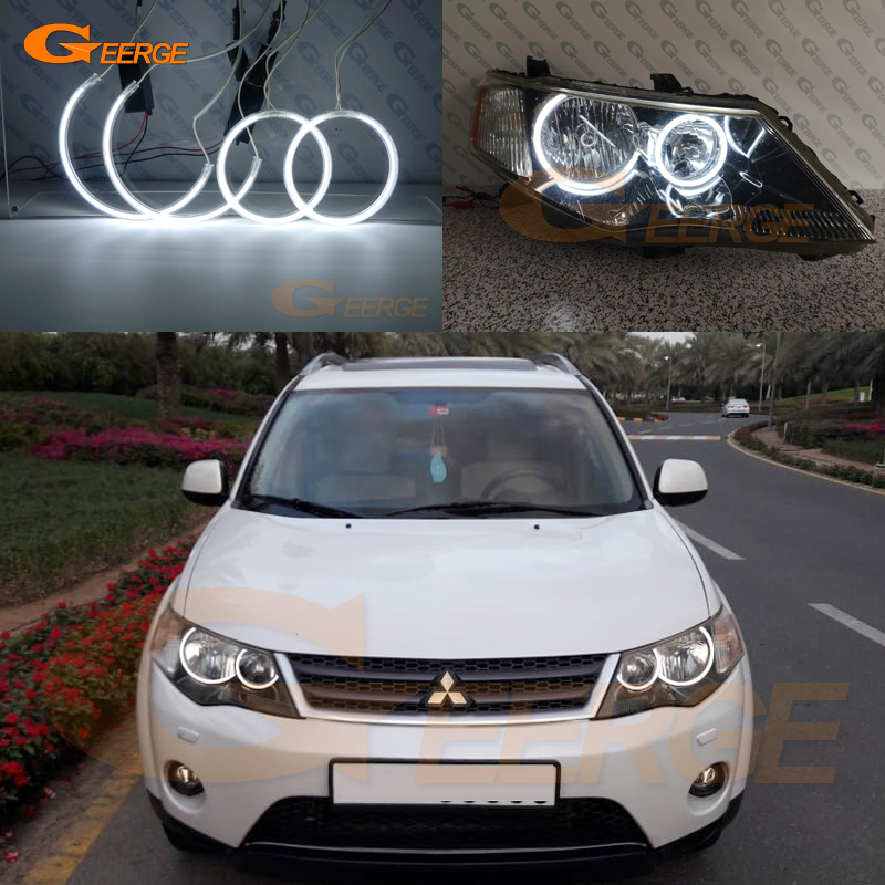 Excellent Ultra bright CCFL Angel Eyes kit Halo Ring For <font><b>Mitsubishi</b></font> <font><b>Outlander</b></font> II 2006 2007 <font><b>2008</b></font> 2009 HALOGEN HEADLIGHT image