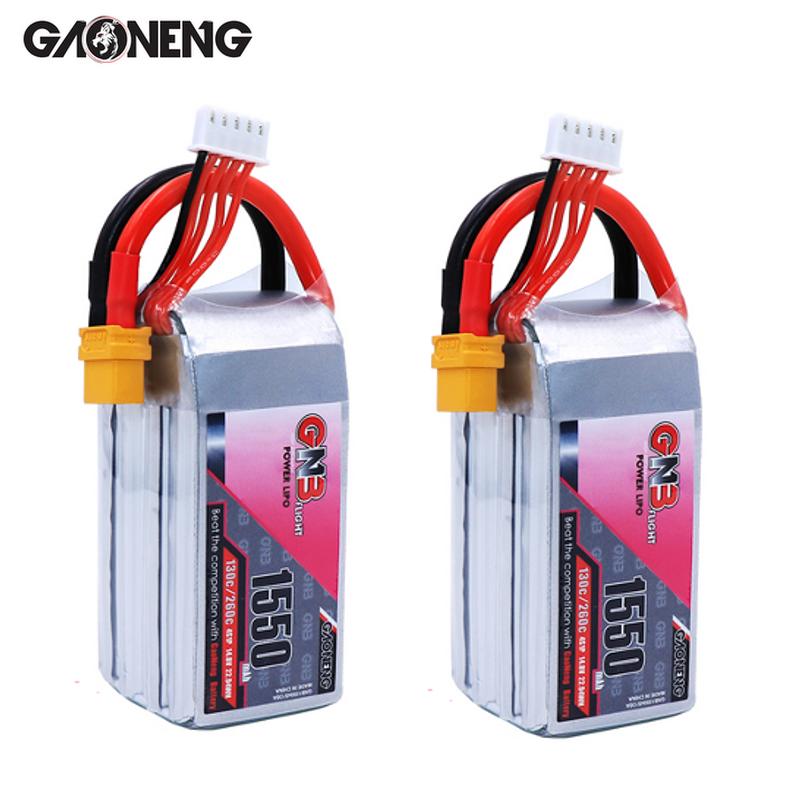 4 шт. Gaoneng GNB 1550 мАч 14,8 в 130C / 260C 4S Lipo аккумулятор Перезаряжаемый XT60 разъем для Emax HAWK 5 RC Дрон FPV Racing|Детали и аксессуары|   | АлиЭкспресс