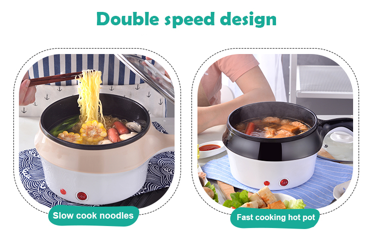 DMWD Multifunctional Electric Cooker Hotpot Mini Non-stick Food Noodle Cooking Skillet Egg Steamer Soup Heater Pot Frying Pan EU