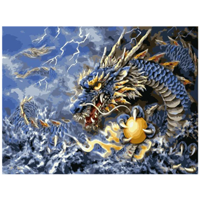 Painting By Number Dragon Mythical Beasts Fantasy Creatures