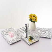 Косметический поднос для макияжа с кристаллами декоративный