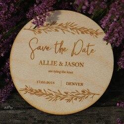 Spersonalizowany ślub zapisz data magnesy drewniane magnesy rustykalne dekoracje ślubne drewno zapisz daty