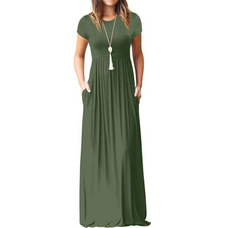2021 длинное летнее платье свободные вечерние платье для женщин пол Длина повседневные платья с короткими рукавами трапециевидной формы рок...