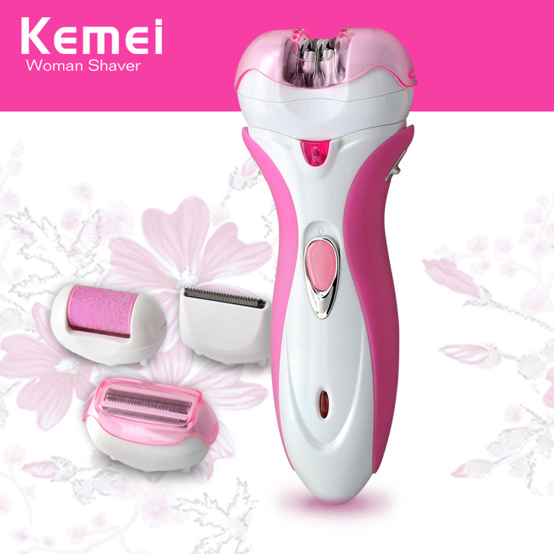 Kemei KM-2531 <font><b>4</b></font> <font><b>in</b></font> <font><b>1</b></font> Multi-functional <font><b>Epilator</b></font> Rechargeable Electric Shaver Hair Trimmer Defeatherer mill foot Device image