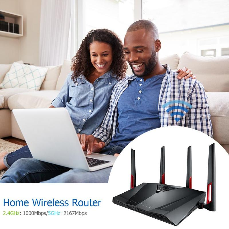 ASUS WiFi Wireless Repeater 2.4GHz/5GHz Dual Band Router WI-FI Gaming Router Ultra-fast 802.11ac 8 Gigabit LAN Ports