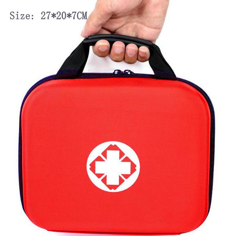Kit de primeiros socorros portátil duplo eva kit médico família ao ar livre sacos de emergência do carro kit de primeiros socorros medicina 20/26 itens tracdical