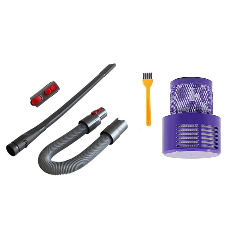 Лидер продаж!-набор гибких щелей + адаптер + шланг для Dyson V8/V10/V7/V11 и моющийся фильтр для DysonV10/V12