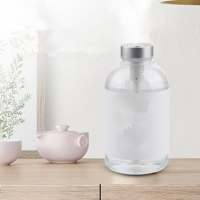 Creative Bottle Design Air Humidifier Silent Ultrasonic Diffuser Mist Maker for Home Office Car Humidifiers     - title=