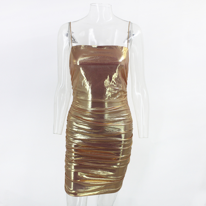 Metallic Party Mini Dress
