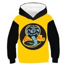 2021 New Fashion Cobra Kai Karate 3d Printed Hoodeds Sweatshirt Loose Wild Hoodie Boy Girl Clothing Snake Coat Tops Kid Pullover