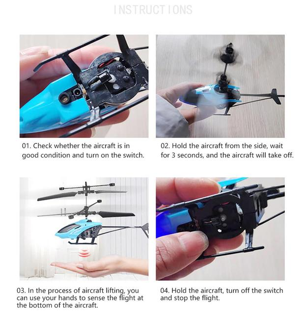 Toy robot for children mini drone RC 2CH Flying Mini RC Infrared Induction Helicopter Flashing Light Toys Gift