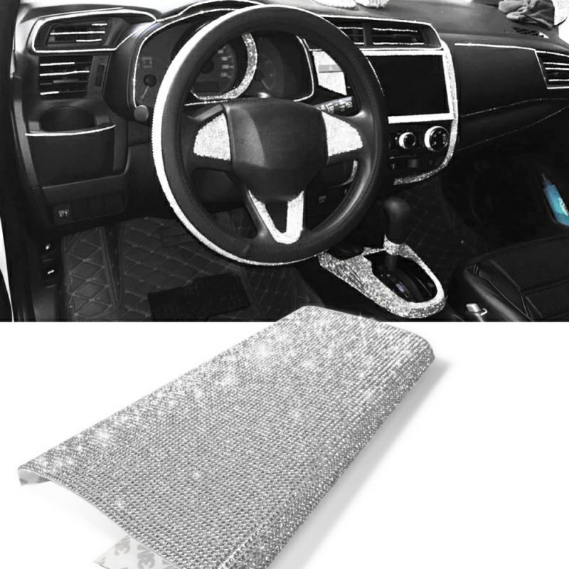 Bling Crystal Rhinestone DIY Sticker For Car Auto Vehicle Decoration|Automotive Interior Stickers|   - title=